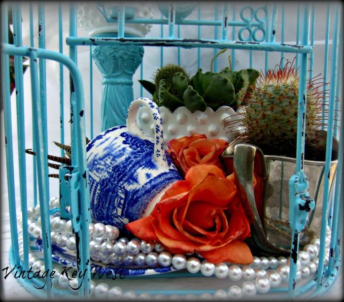 DIYDIY Shabby Succulent Birdcage