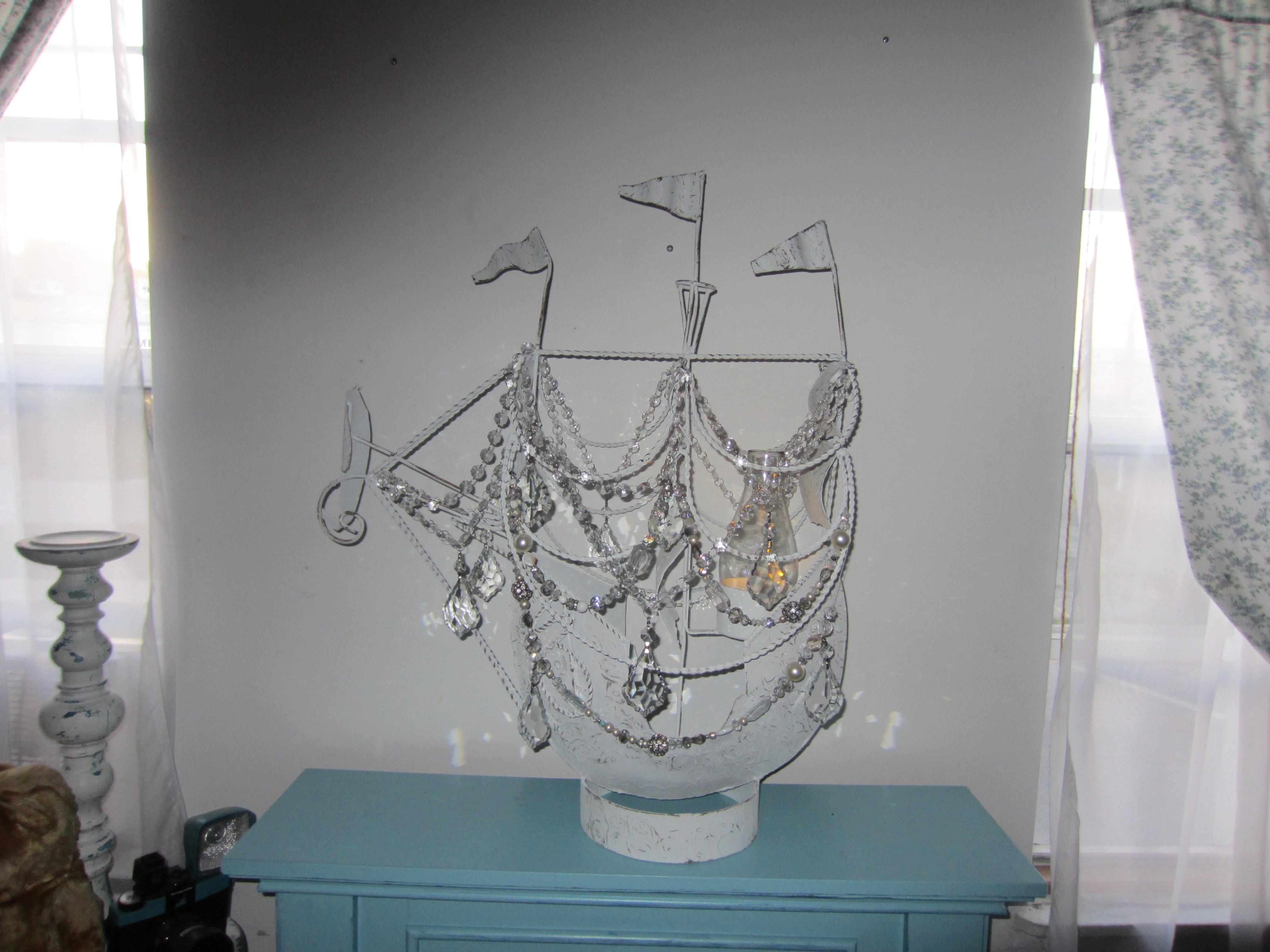 Pirate Ship Chandelier Vintage Lamp Makeover – Vintage Key West