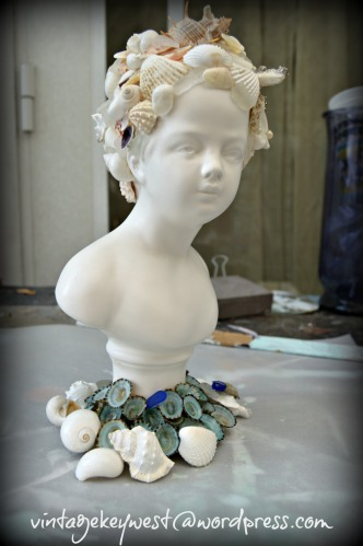 Shabby Mermaid Bust