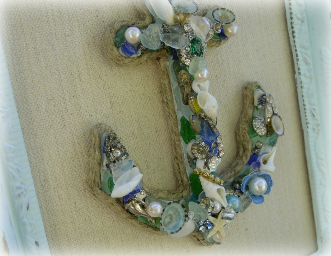 Anchor Wall Decor, Coastal Chic Anchor@https://www.etsy.com/shop/northandsouthshabby