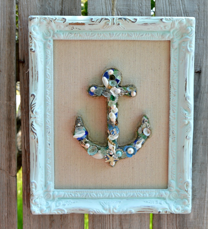 Framed Anchor, Coastal Chic Beach Decor