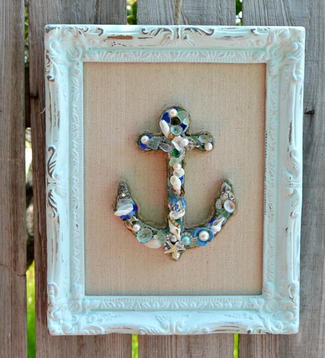 Framed Anchor, Coastal Chic Beach Decor