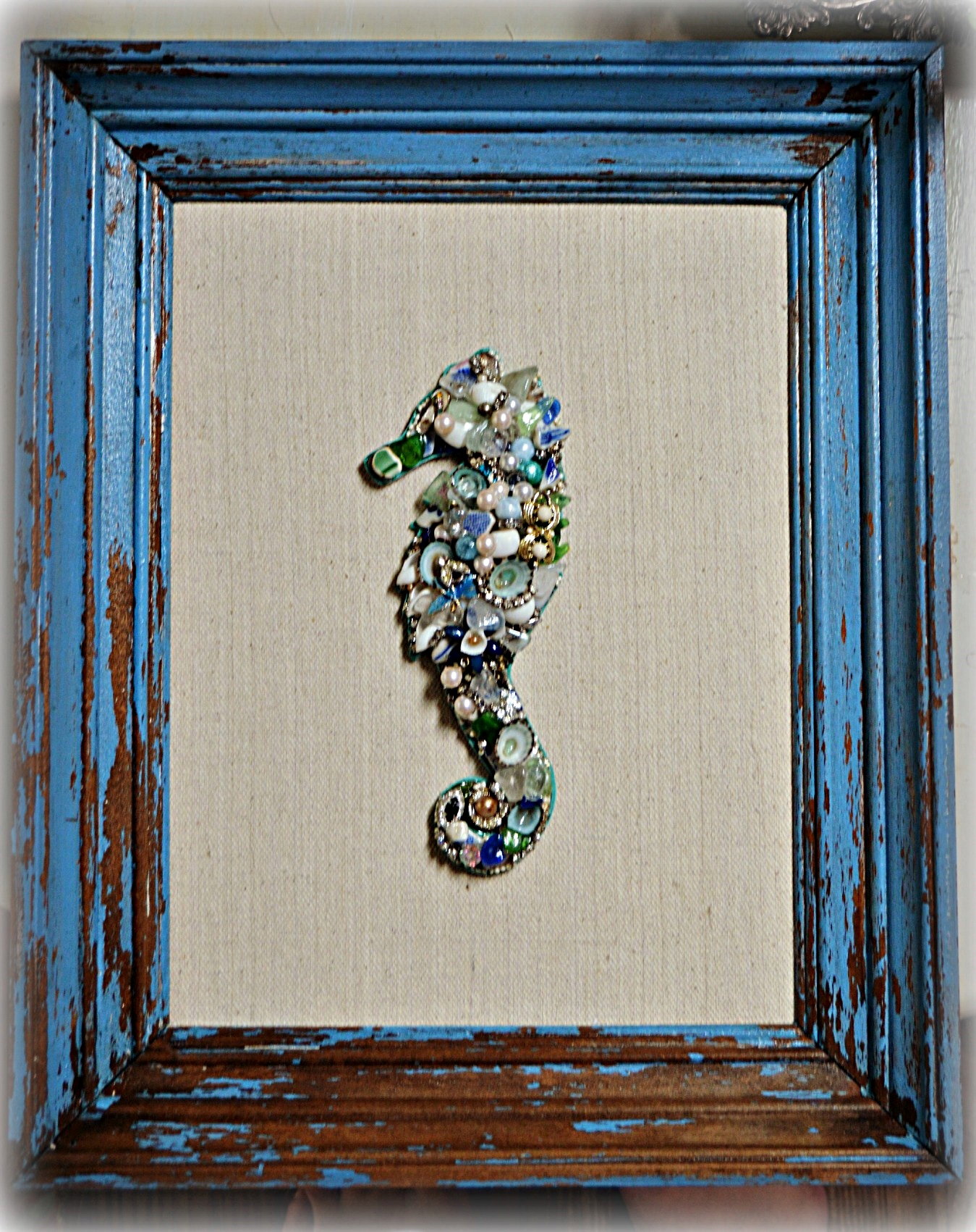 Coastal Chic Seahorse Wall Decor
