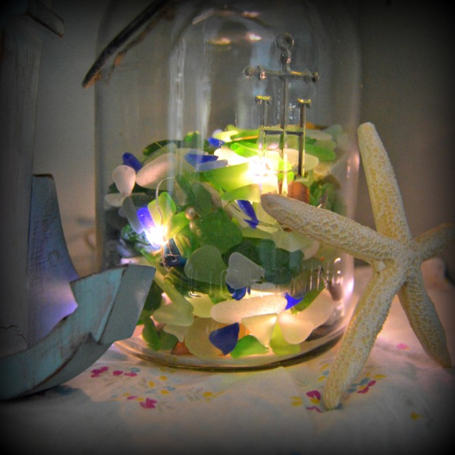 Easy Sea Glass Luminary