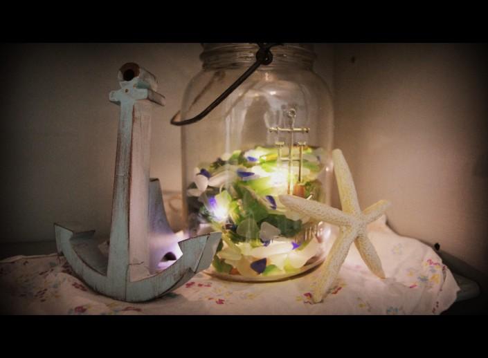 How to create a pretty Sea Glass Luminary
